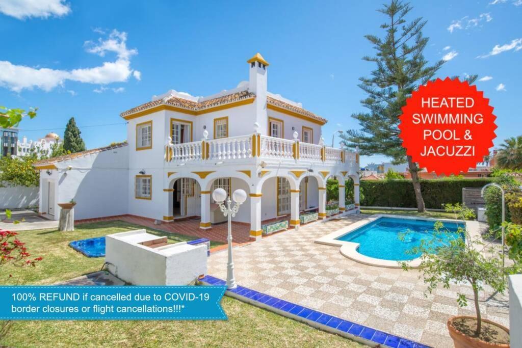 Villa Marina Benalmadena - 5 min walk to the beach, heated pool, spa, 5 bedrooms