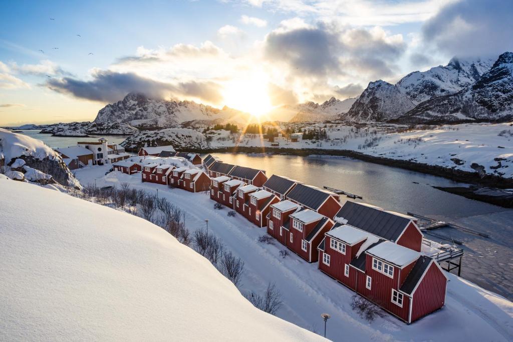 Nyvågar Rorbuhotell - by Classic Norway Hotels im Winter