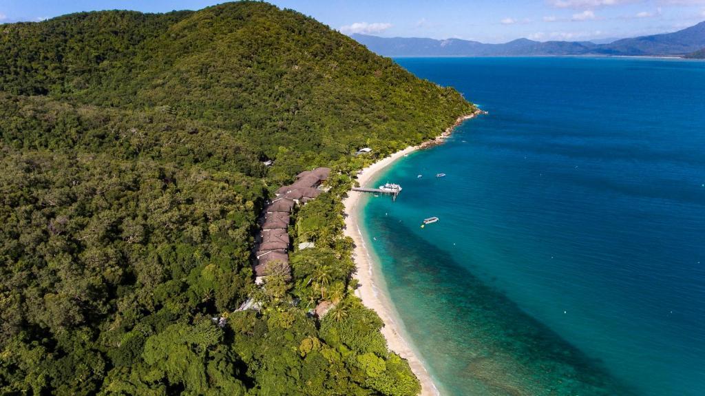 A bird's-eye view of Fitzroy Island Resort