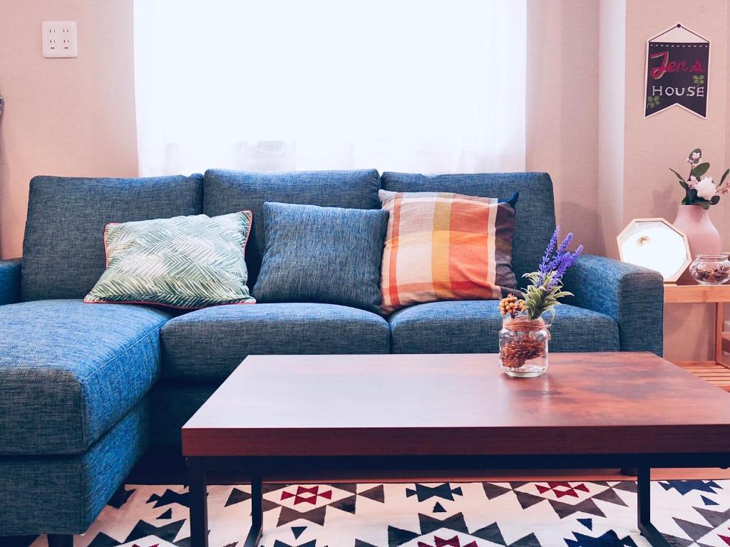 A seating area at Jen's House Osaka