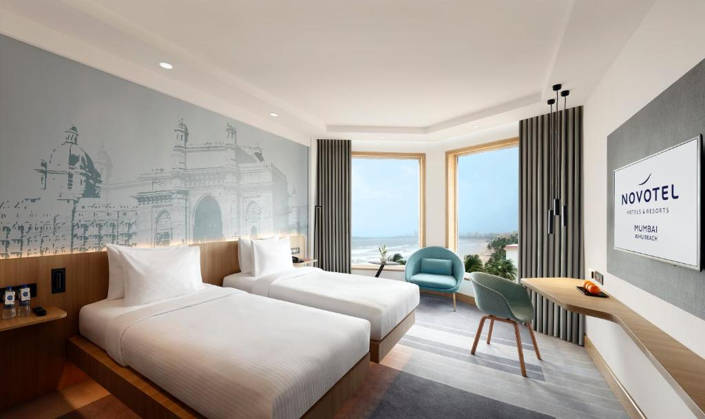 A room at the Novotel Mumbai Juhu Beach.