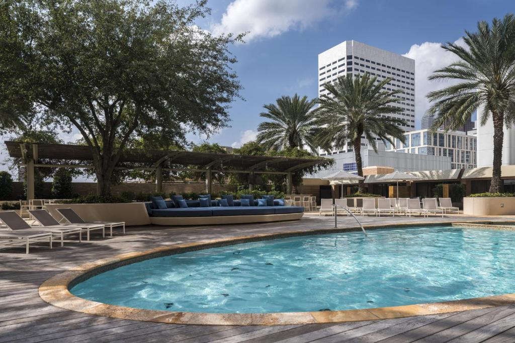 The swimming pool at or near Four Seasons Hotel Houston