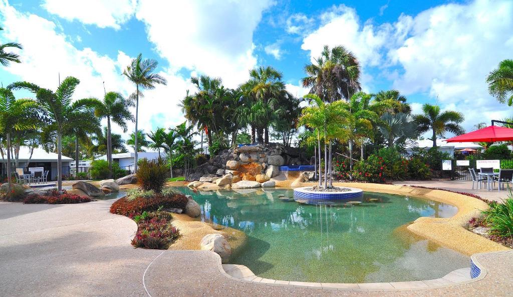 A garden outside Mission Beach Resort