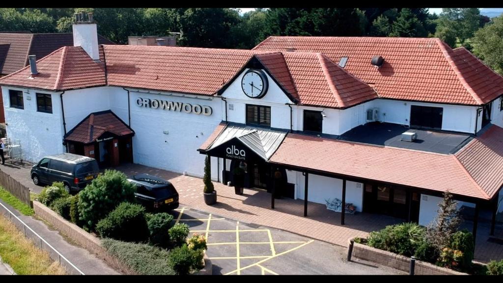 A bird's-eye view of Crowwood Hotel and Alba Restaurant