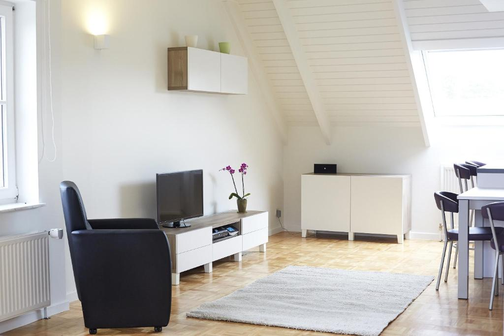 A television and/or entertainment centre at B2B-flats