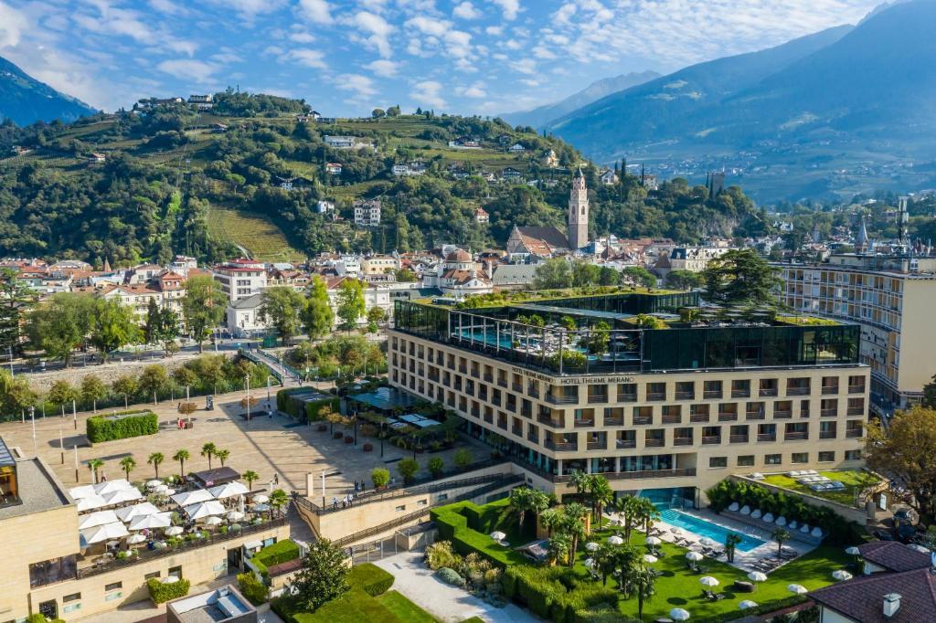 A bird's-eye view of Hotel Therme Meran - Terme Merano