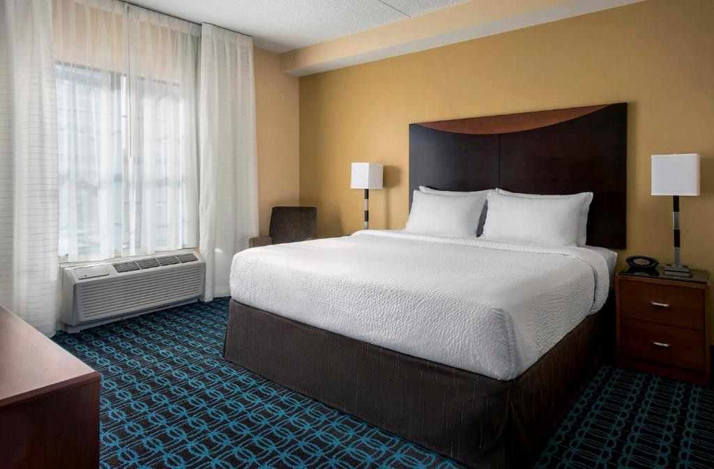 A room at the Fairfield Inn & Suites Baltimore Downtown Inner Harbor.