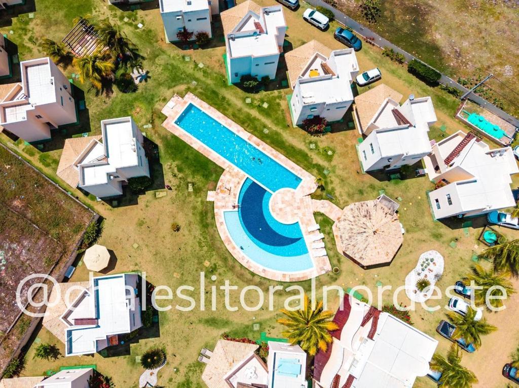 Uma vista aérea de Chalés Paraíso de Maracajaú 4