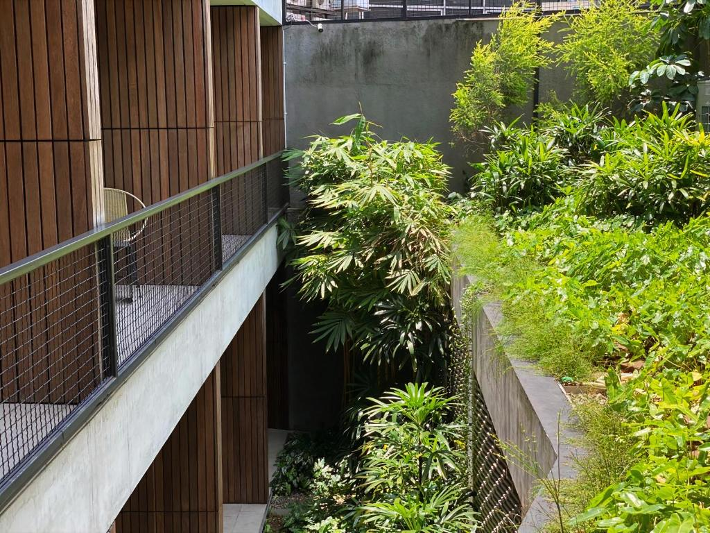 A balcony or terrace at Nagomi Suites