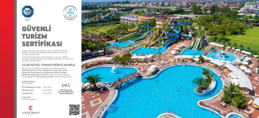 A view of the pool at Club Hotel Turan Prince World - Kids Concept or nearby