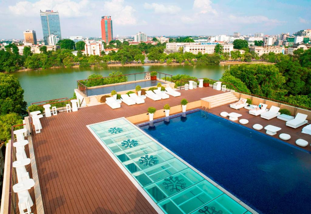 A view of the pool at Apricot Hotel or nearby