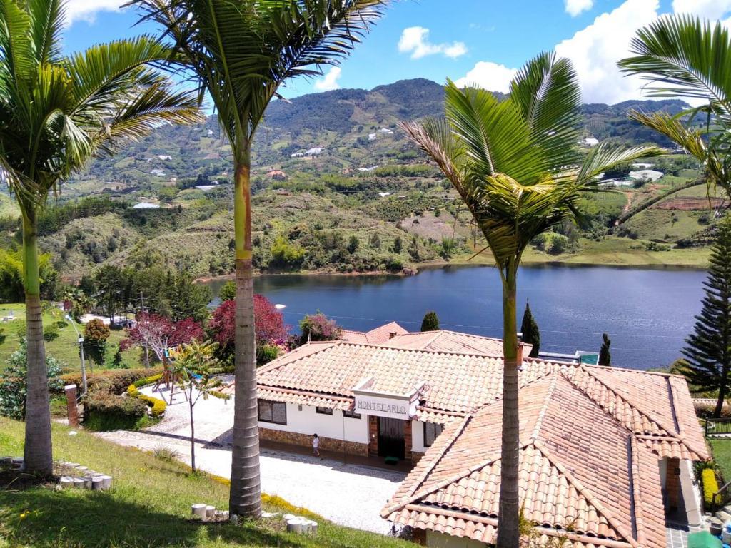 A view of the garden at CASA DE CAMPO,EL PEÑOL,GUATAPE or nearby