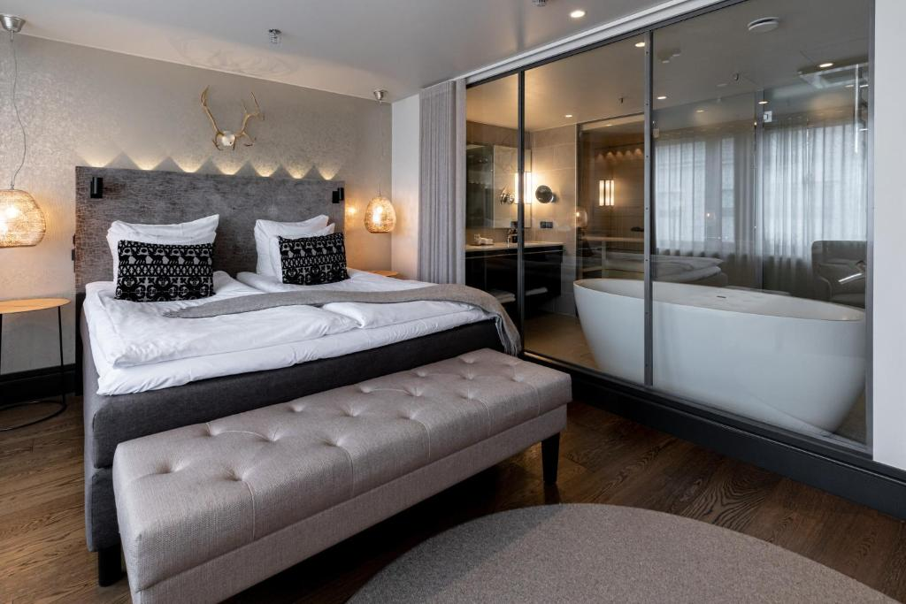 Łóżko lub łóżka w pokoju w obiekcie Lapland Hotels Bulevardi