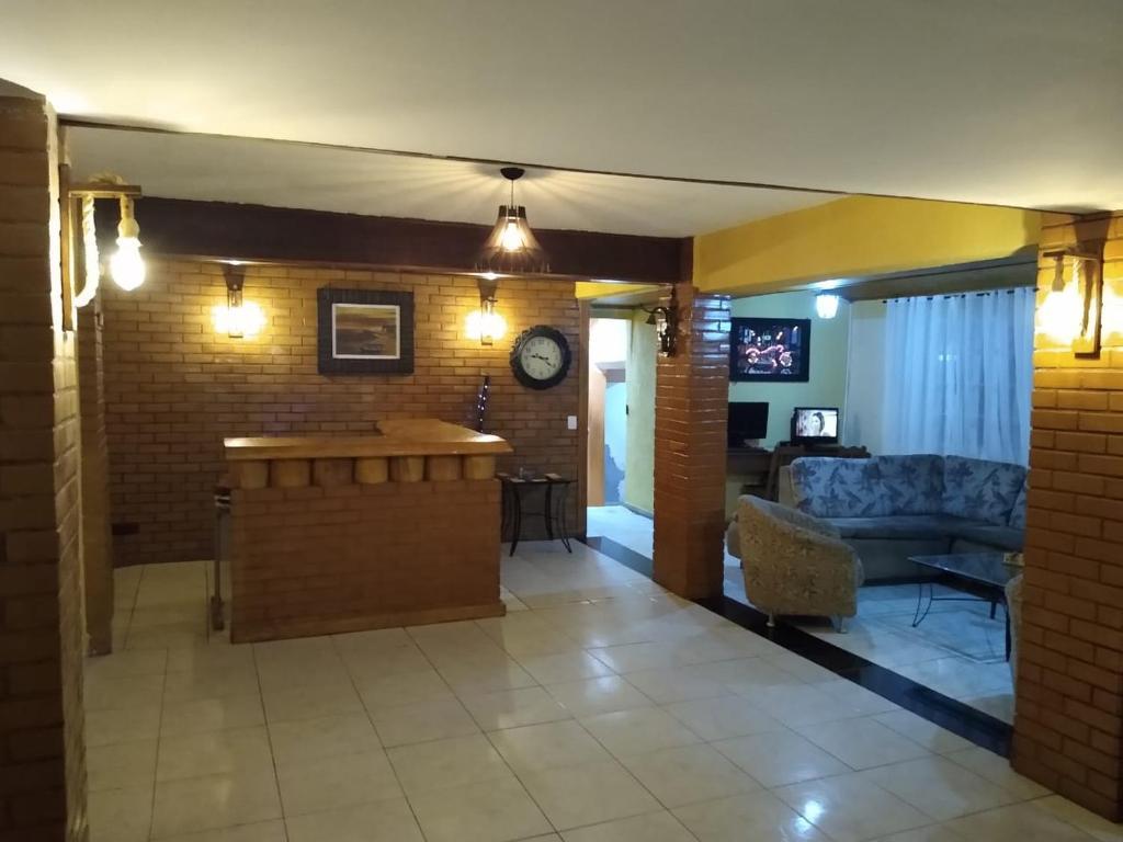 The lounge or bar area at Pousada Bela Vista