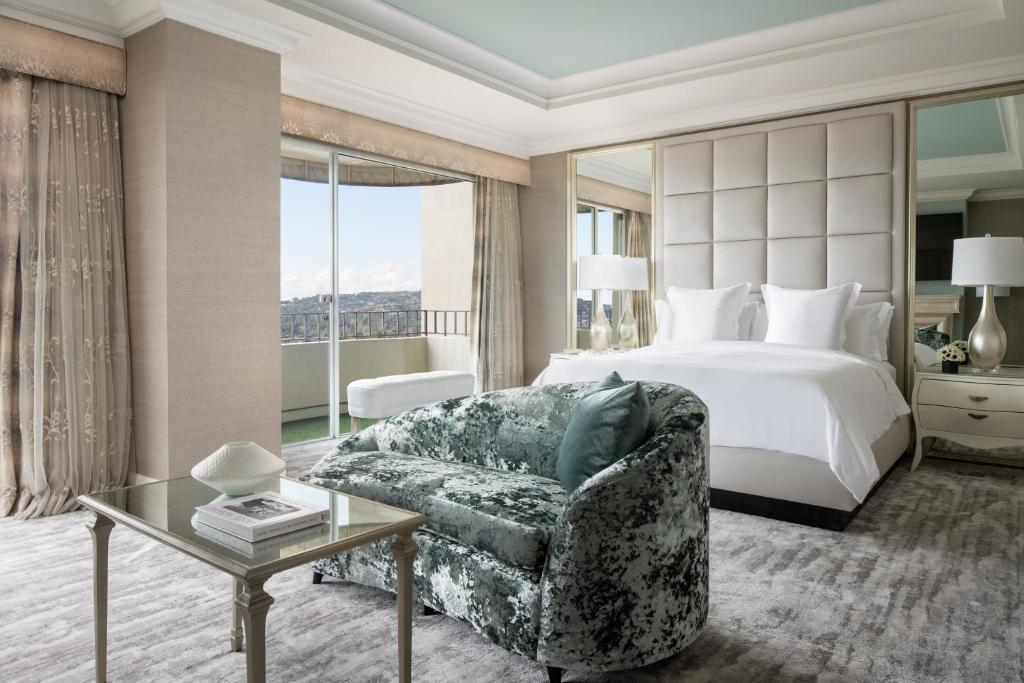 A room at the Four Seasons Hotel Los Angeles at Beverly Hills.
