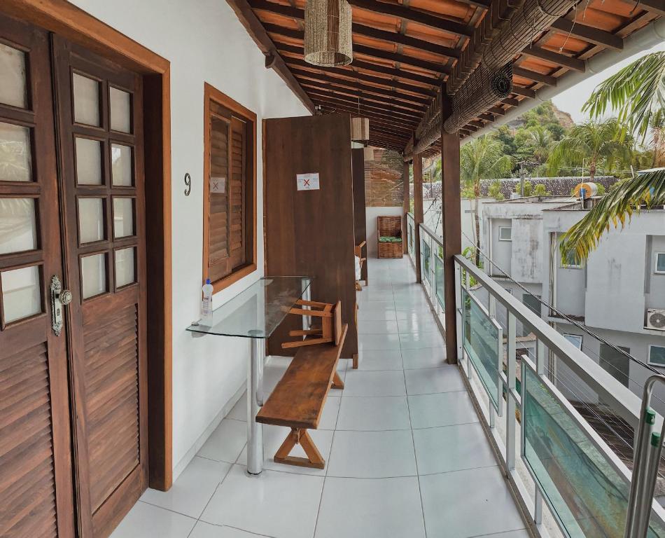 Uma varanda ou outra área externa em Pousada Brasil Caribe