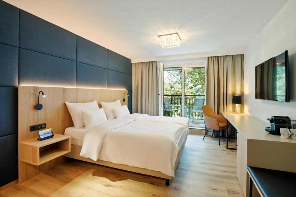 A room at the Austria Trend Hotel Maximilian.