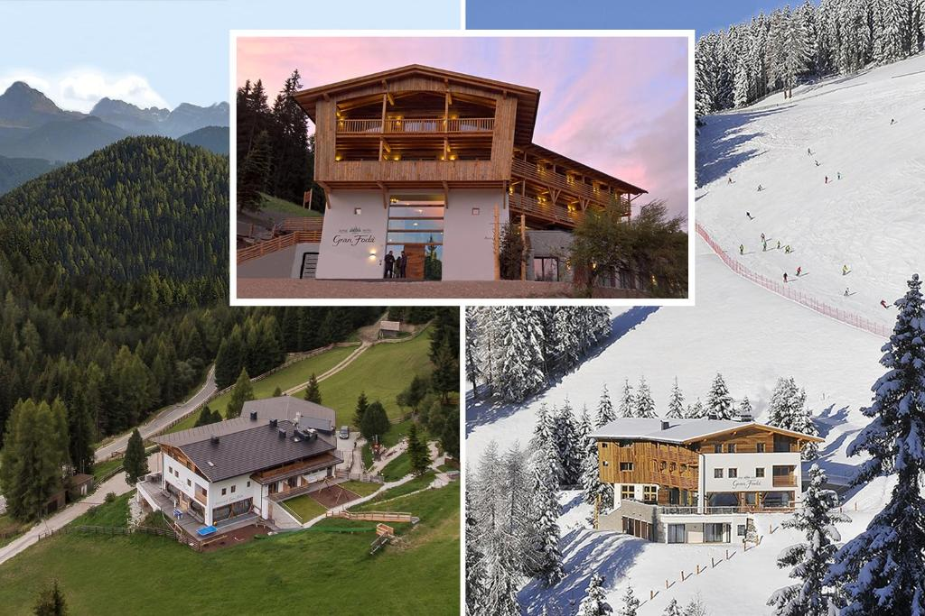 A bird's-eye view of Alpine Hotel Gran Foda'