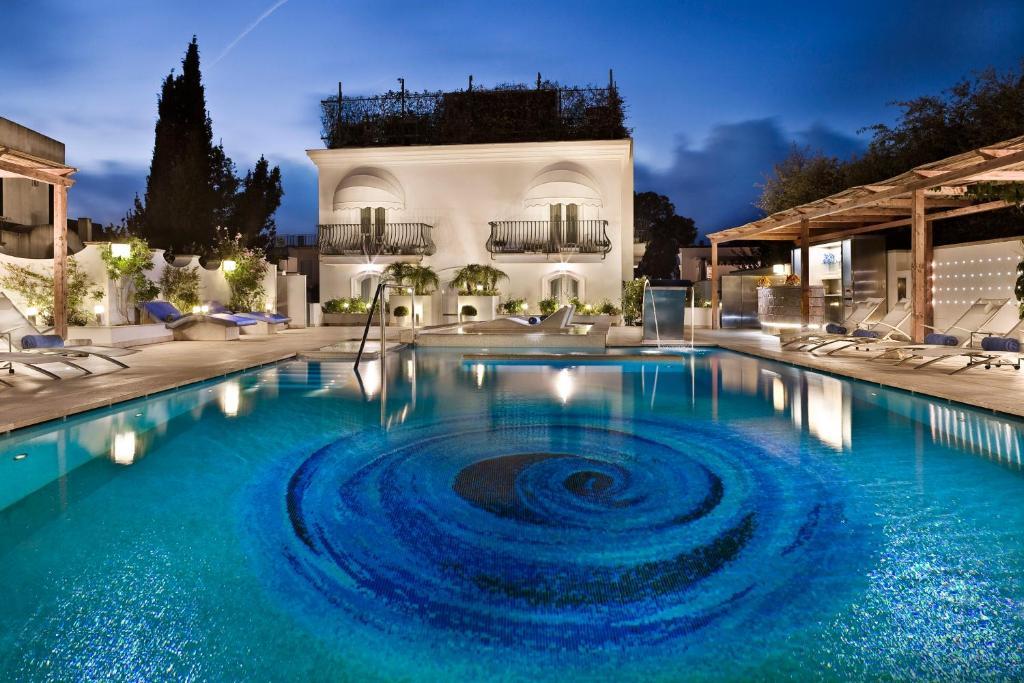 The swimming pool at or near Hotel Villa Blu Capri
