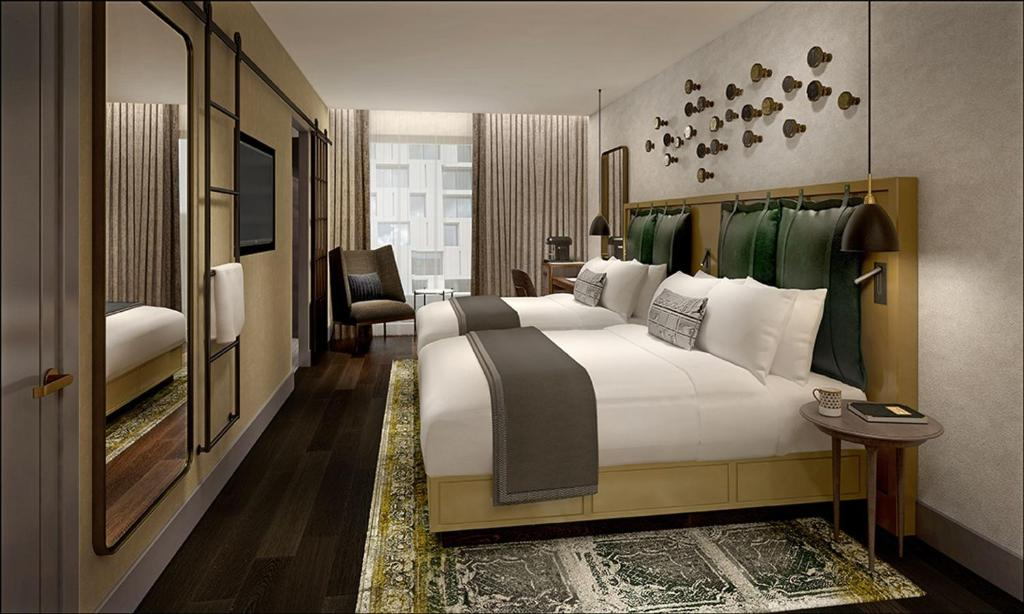 A room at the Clayton Hotel City of London.