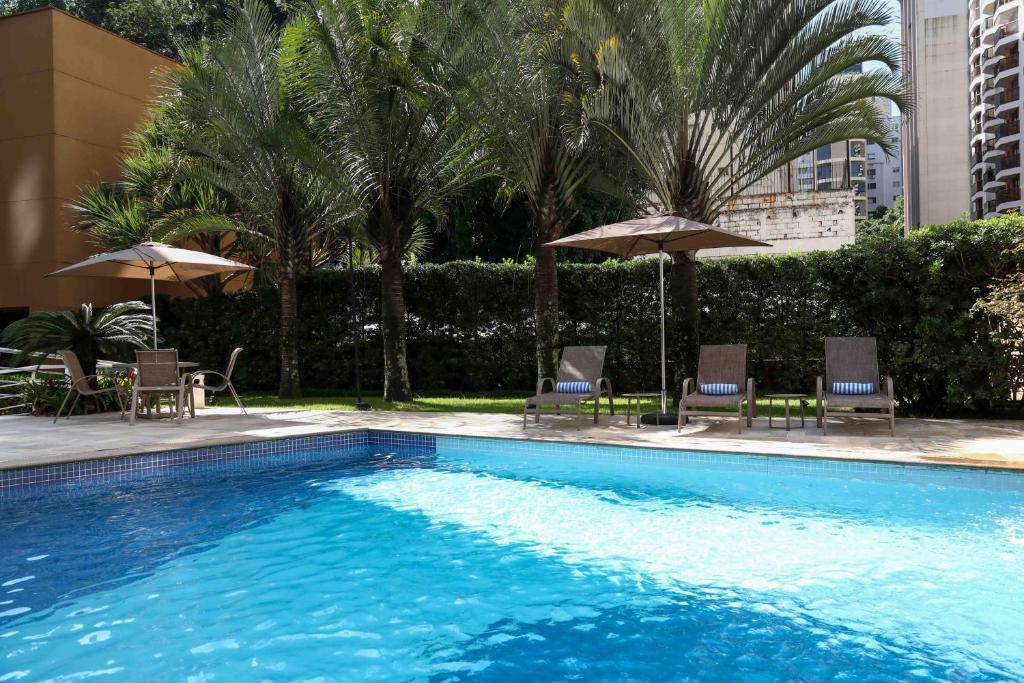 The swimming pool at or near Transamerica Prime International Plaza (Paulista)