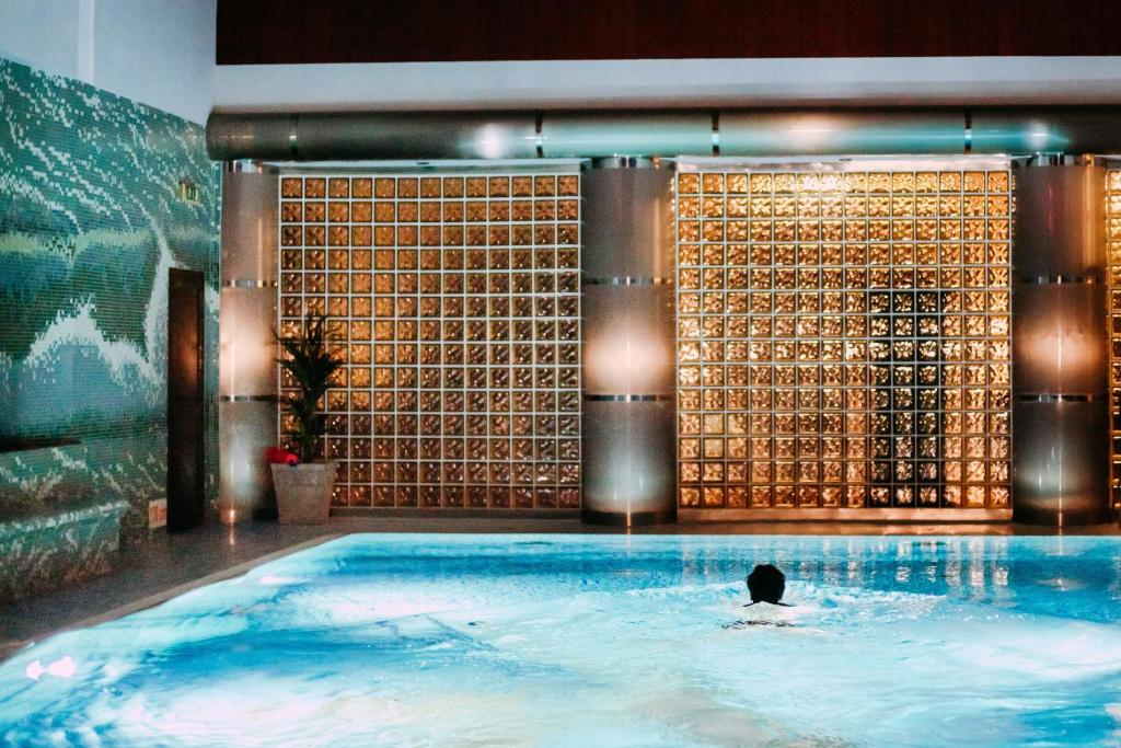 The swimming pool at or near Hotel Klimek Spa