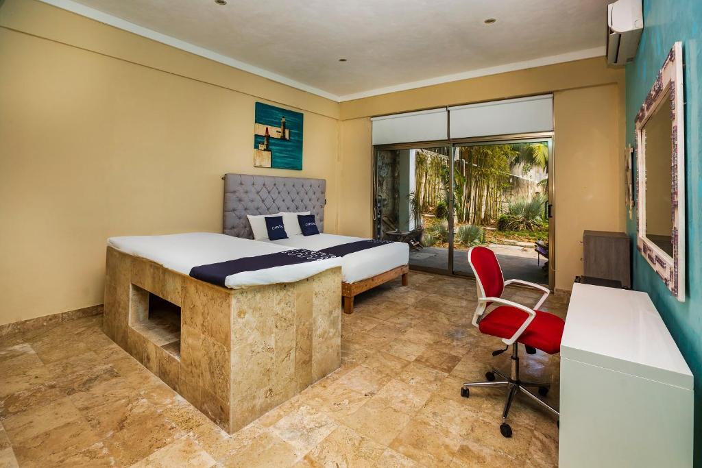 A room at the Capital O 24/7.