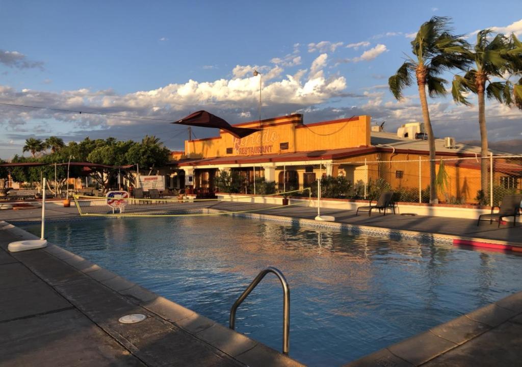 The swimming pool at or near Hotel Las Palmas