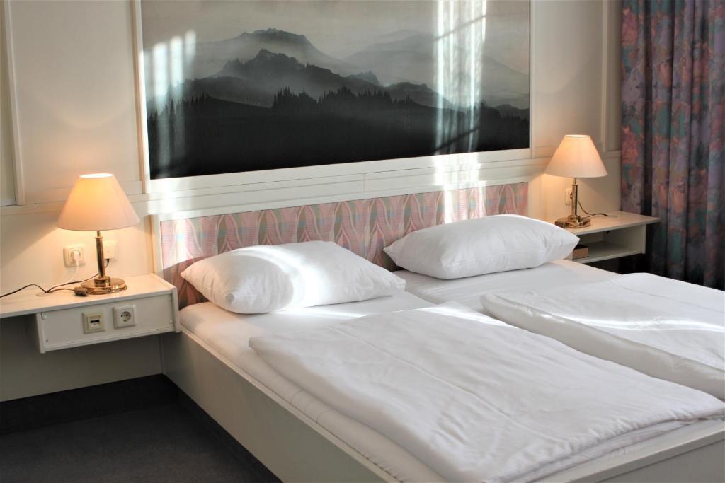 A room at the Pallottihaus Wien.