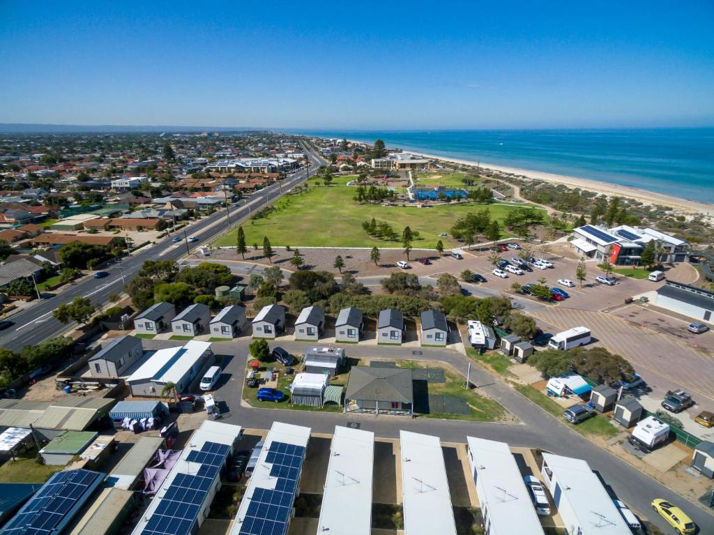 A bird's-eye view of Discovery Parks - Adelaide Beachfront