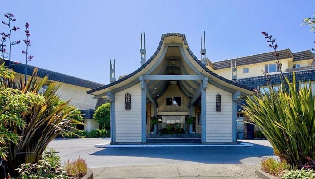The facade or entrance of The Polynesian Resort