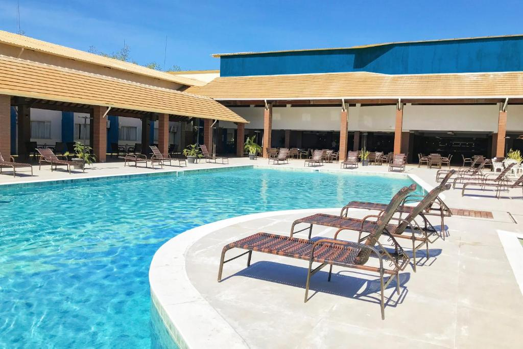 The swimming pool at or near Nauticomar Resort All Inclusive & Beach Club