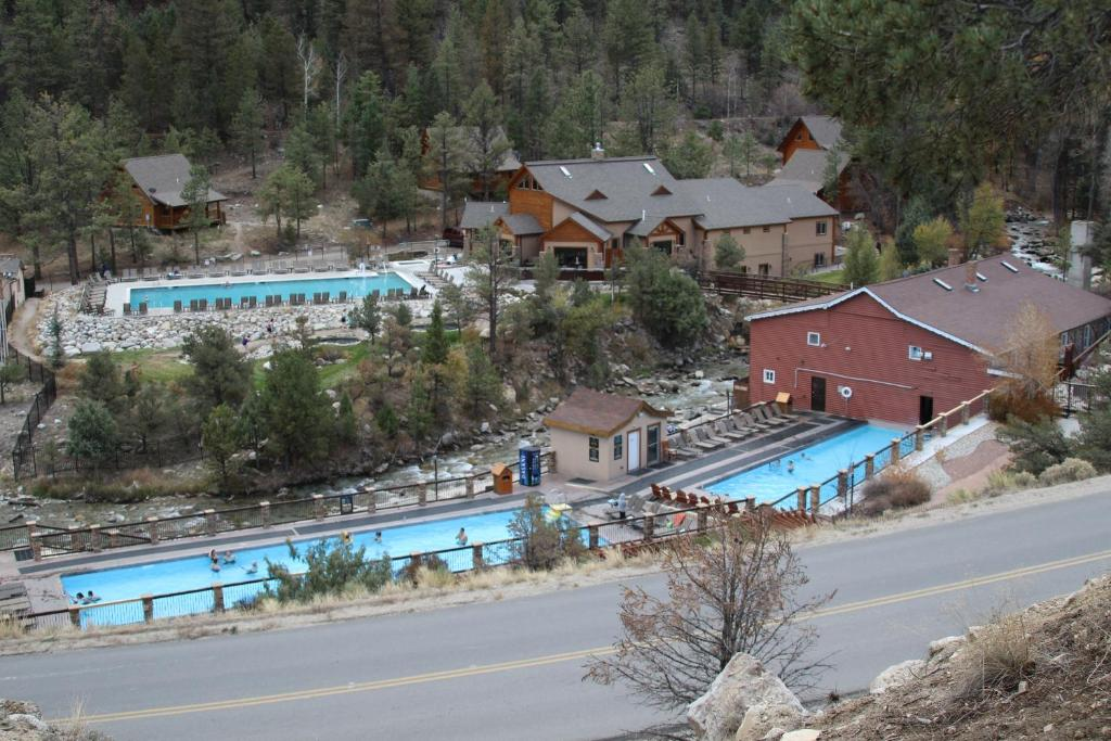 A view of the pool at Mount Princeton Hot Springs Resort or nearby