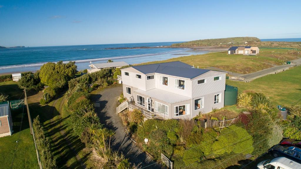 A bird's-eye view of Lazy Dolphin Lodge