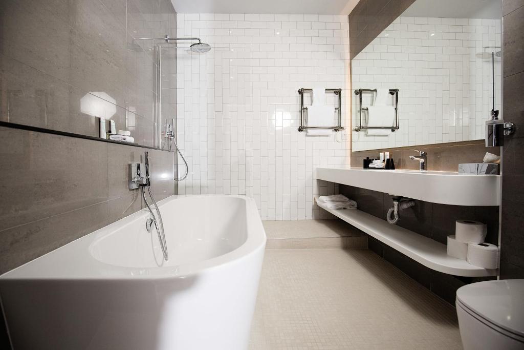 A bathroom at Malmaison Glasgow