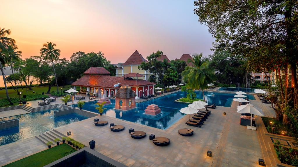 A view of the pool at Grand Hyatt Goa or nearby