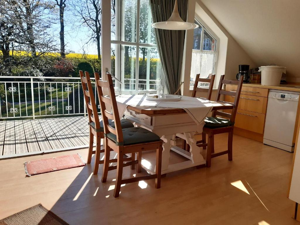 Dining area at the farm stay