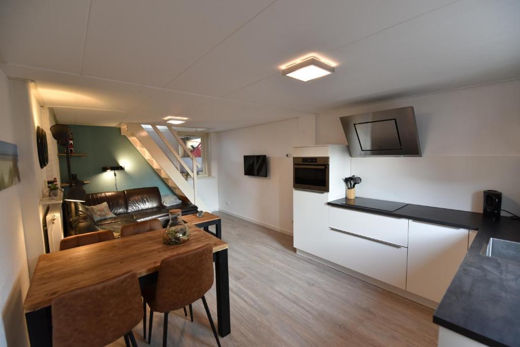 Küche/Küchenzeile in der Unterkunft Appartement Tjerk