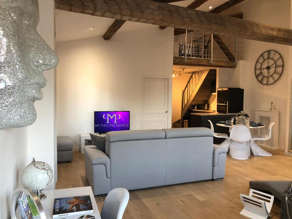 A television and/or entertainment centre at My Pad Provence 3