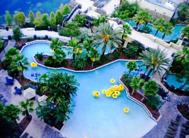 A bird's-eye view of Wyndham Bonnet Creek Resort