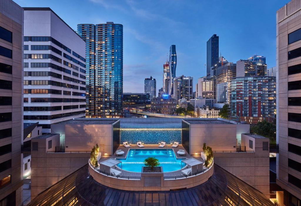 A view of the pool at Crowne Plaza Melbourne, an IHG Hotel or nearby
