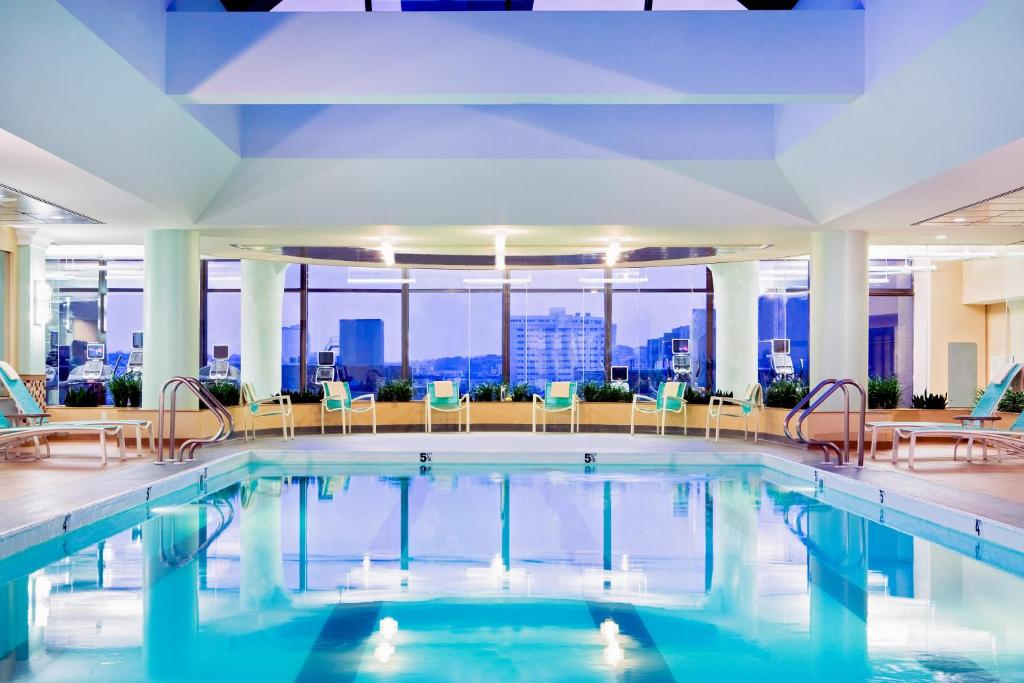 The swimming pool at or near Boston Marriott Copley Place