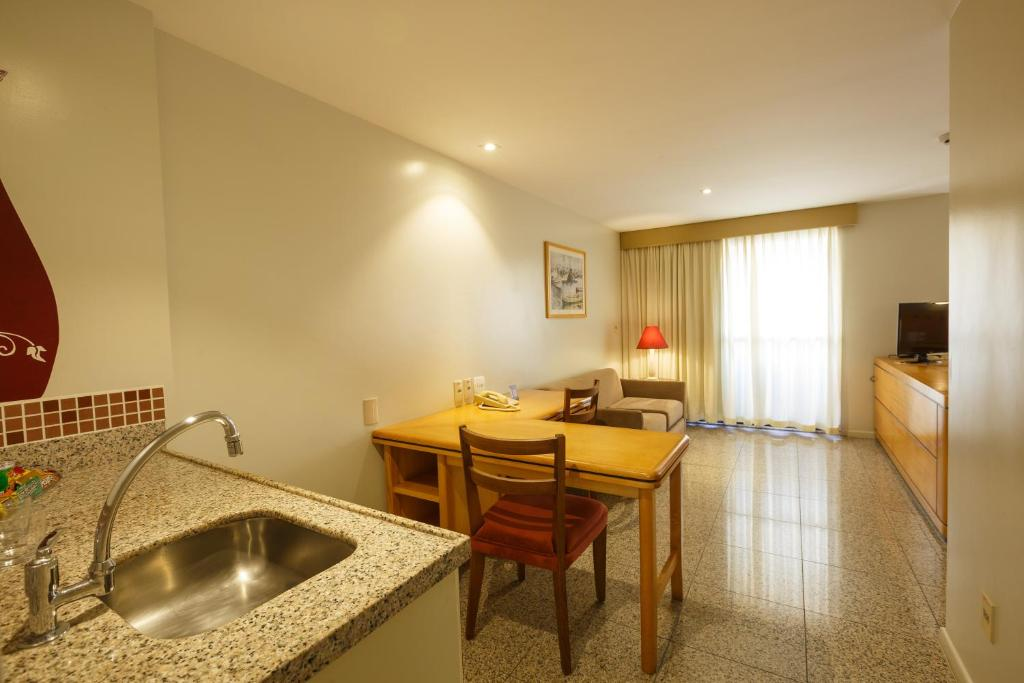 A kitchen or kitchenette at Blue Tree Towers Fortaleza Beira Mar