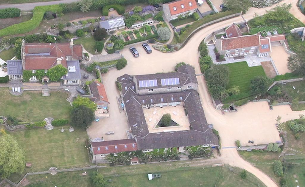 A bird's-eye view of Upper Vobster Farm