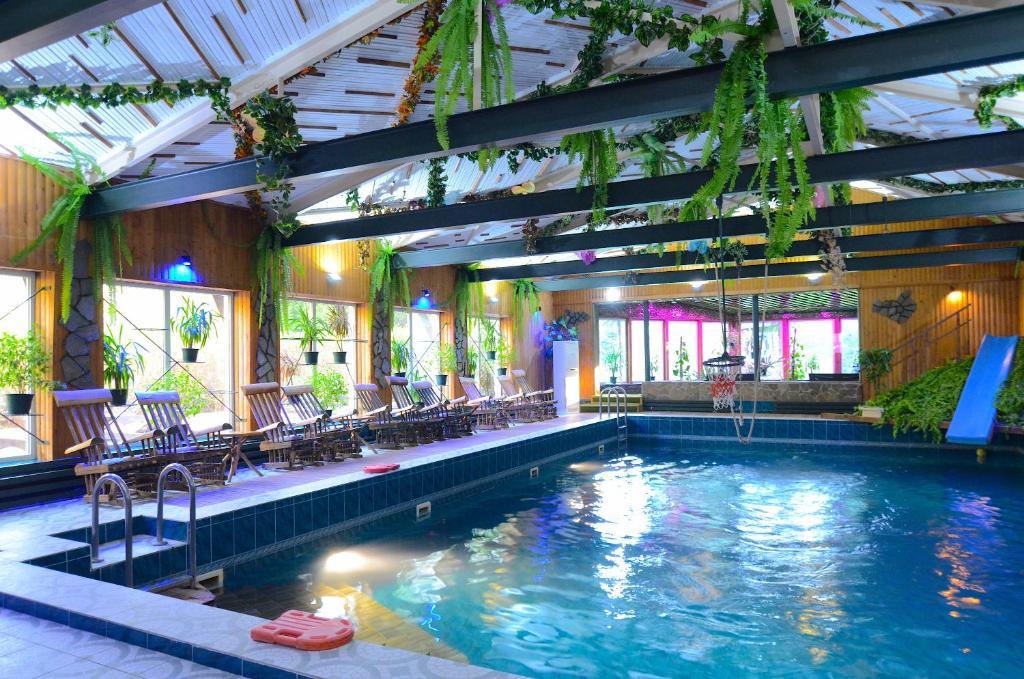 The swimming pool at or near Akvareli Resort