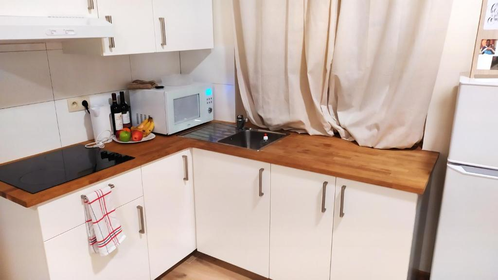 A kitchen or kitchenette at Apartment with one bedroom in Mons with wonderful city view and WiFi