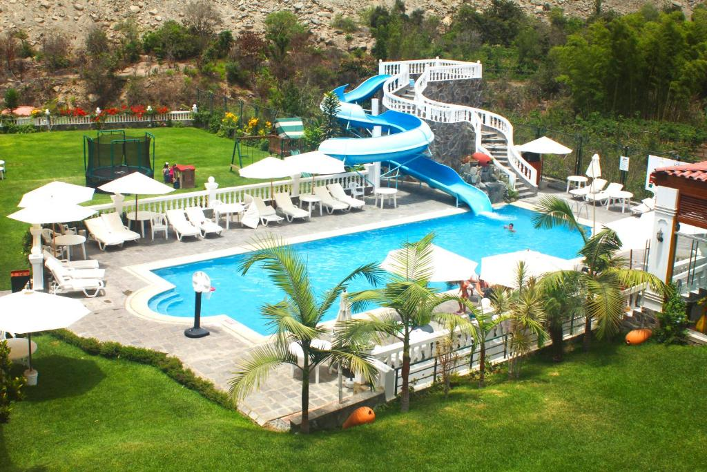 A view of the pool at Lunahuana River Resort or nearby