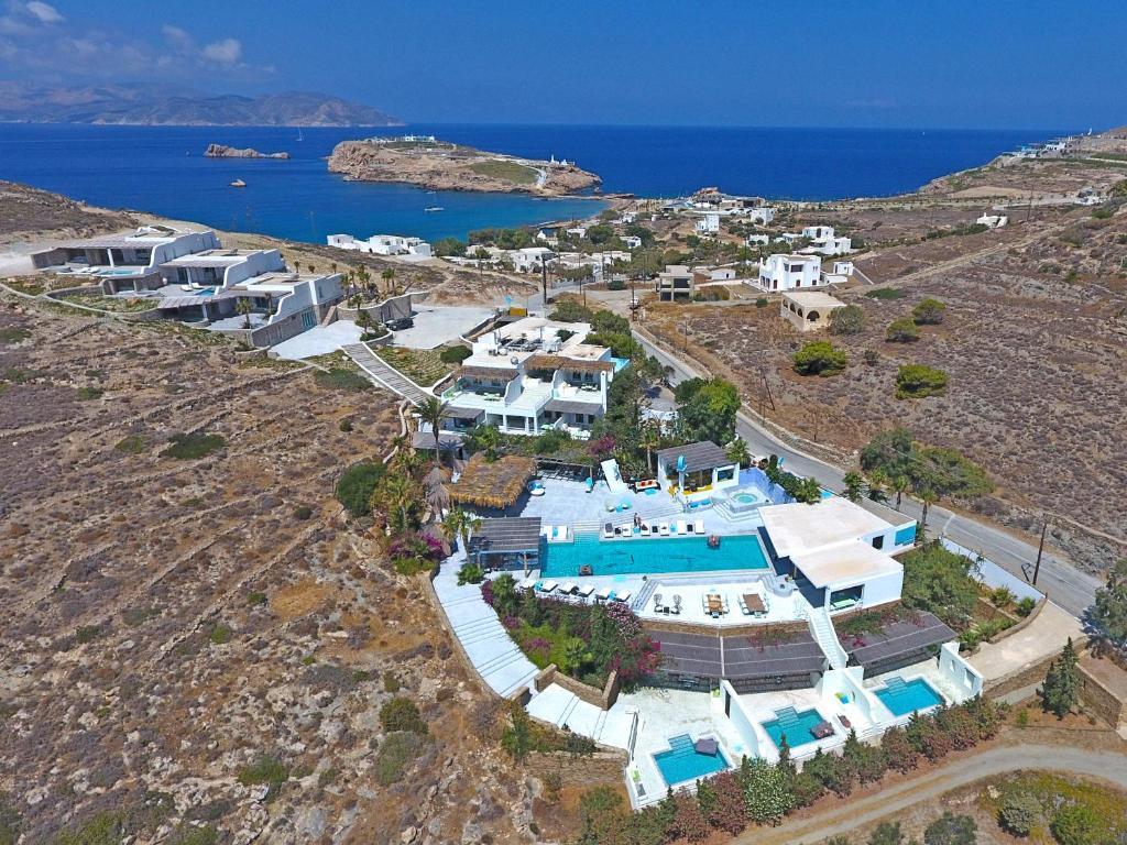 A bird's-eye view of Agalia Luxury Suites