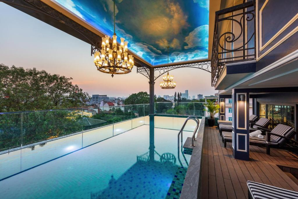 The swimming pool at or near Aira Boutique Hanoi Hotel & Spa