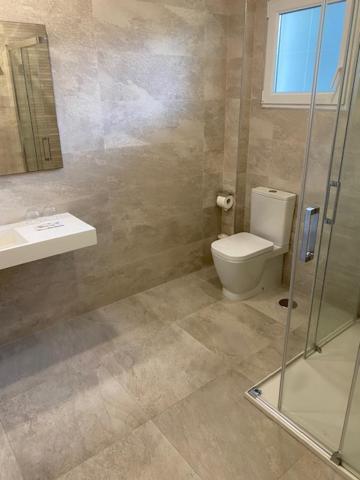 A bathroom at Hotel La Cruz